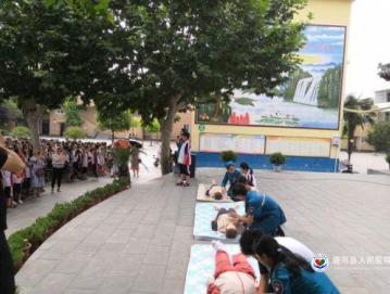 唐河县人民医院走进校园开展防溺水安全教育及急救知识培训活动