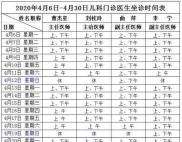 唐河县人民医院儿科全面恢复正常诊疗(附4月6日至4月30日儿科门诊医生坐诊时间表)
