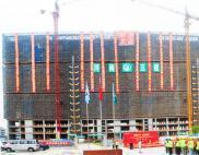 荣耀封顶 砥砺奋进——唐河县人民医院分院建设项目一标段1#病房楼今日喜封金顶